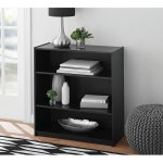 Mainstays 3-Shelf Wood Bookcase