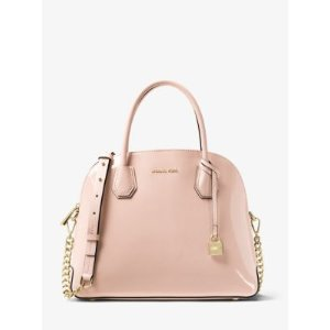Mercer Large Patent Leather Dome Satchel