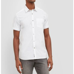 Short-Sleeve Snap Shirt | Kenneth Cole