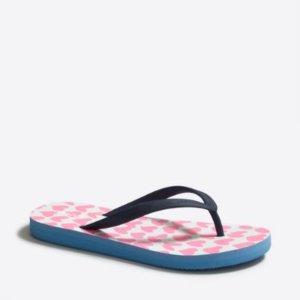Girls' printed flip-flops : FactoryGirls Shoes   Factory