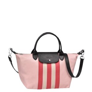 Longchamp Le Pliage Cuir Raye Small Handbag | Sands Point Shop
