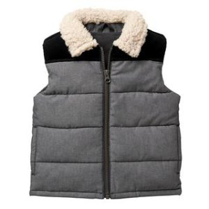 Sherpa Collar Puffer Vest