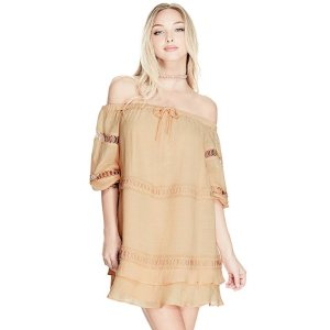 Karena Off-The-Shoulder Dress at Guess