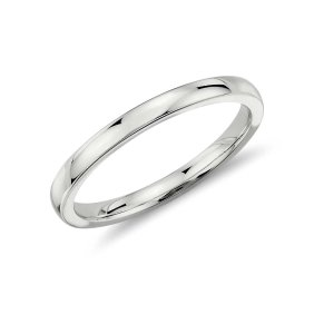 Low Dome Comfort Fit Wedding Ring in Platinum (2mm) | Blue Nile