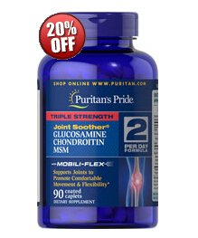 6 for $45.58 + $11 off $45Triple Strength Glucosamine, Chondroitin & MSM Joint Soother