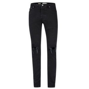 Washed Black Ripped Stretch Skinny Jeans