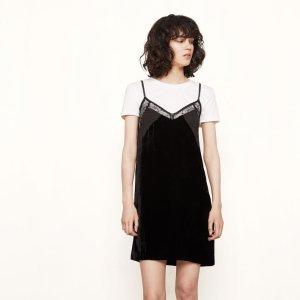 RUIZA Short lingerie-style dress - Dresses - Maje.com