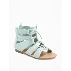 Lace-Up Sandals for Toddler Girls