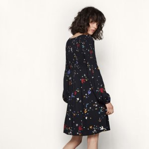 RESKITA Short printed dress with smocking - Dresses - Maje.com