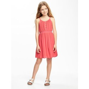 Fit & Flare Cinched-Waist Dress for Girls