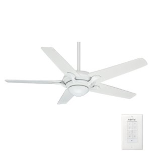 Casablanca Bel Air 56 in. Indoor Snow White Ceiling Fan with Wall Control-59077 - The Home Depot