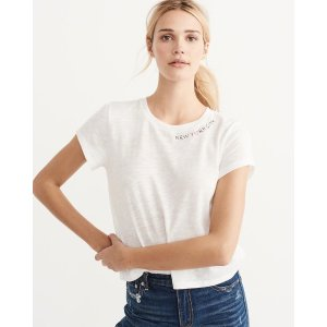 Womens Stitched Tee | Womens Tops Sale | Abercrombie.com