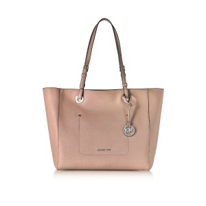 Michael Kors Walsh Large Fawn Saffiano Leather EW Top-Zip Tote at FORZIERI