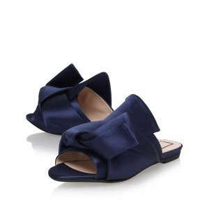 No. 21 Satin Bow Slippers