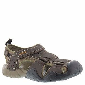 Crocs™ Swiftwater Leather Fisherman (Men's) | FREE Shipping at ShoeMall.com