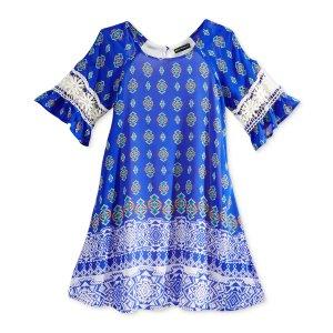 Sequin Hearts Geometric Print Dress, Big Girls (7-16) - Sale & Clearance - Kids & Baby - Macy's