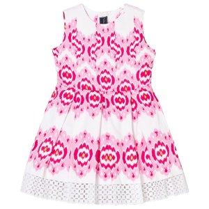 Oscar De La Renta Pink Ikat Sleeveless Party Dress | AlexandAlexa