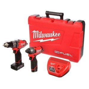 $199黒五价:Milwaukee M12 12伏锂电池无线电钻两件套
