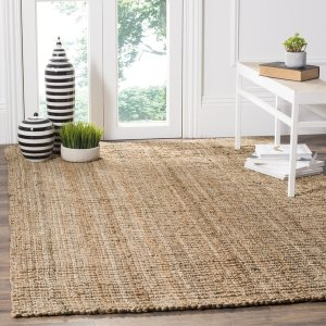 Safavieh Casual Natural Fiber Hand-Woven Natural Accents Chunky Thick Jute Rug (6' x 9') - Free Shipping Today - Overstock.com - 12349080