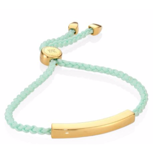 Monica Vinader - Linear Friendship Bracelet/Mint - saks.com