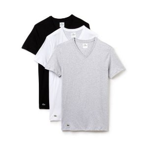 Lacoste Essentials Collection 3-Pack V-Neck T-Shirts