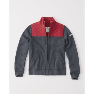 boys quilted colorblocked full-zip sweatshirt   boys clearance   Abercrombie.com