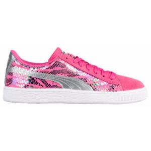 PUMA Suede Classic - Girls' Grade School - Basketball - Shoes - Fandango Pink/Silver