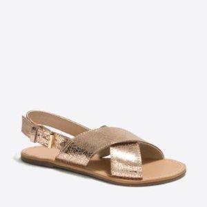 Girls' metallic sandals : FactoryGirls Shoes   Factory