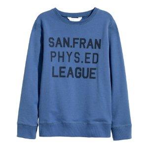 Sweatshirt with Printed Design | Blue | Kids | H&M US