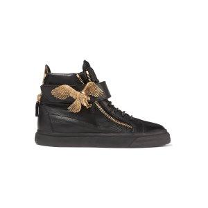 Embellished leather sneakers | Giuseppe Zanotti