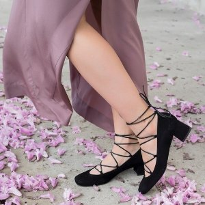Cordon Lace Pump Heels