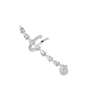 Marquise crystal-embellished earcuff