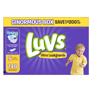 $18.96Luvs Ultra Leakguards Diapers Size 5, 140 Count