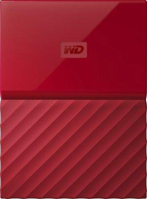 $109.99WD My Passport 4TB USB 3.0 移动硬盘 红色