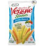Sensible Portions Garden Veggie Straws, Zesty Ranch, 1 Ounce (Pack of 24)