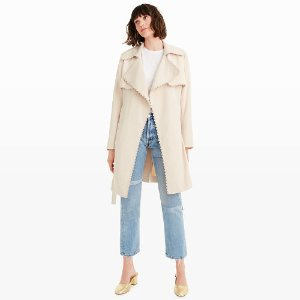 Lindy Scallop Trench Coat