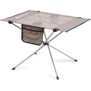 Ozark Trail Large Compact High-Tension Side Table, Warm Gray