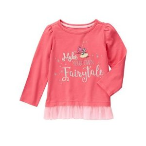 Toddler Girls Coral Fairy Tale Tee by Gymboree
