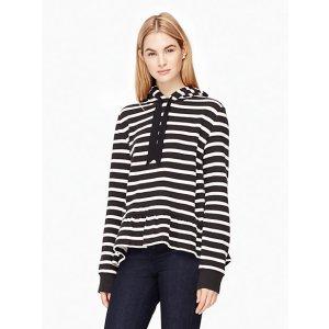 stripe hooded sweatshirt | Kate Spade New York
