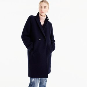Daphne topcoat in boiled wool