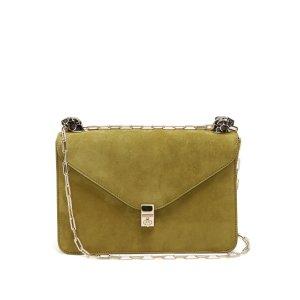 Panther-embellished suede shoulder bag | Valentino