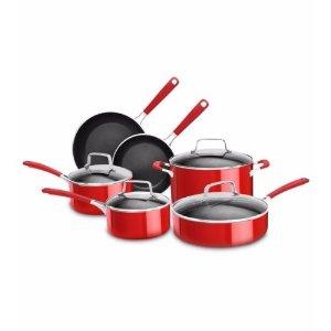 KitchenAid® Aluminum Nonstick 10-Piece Set, Empire Red, KC2AS10ER | eBay
