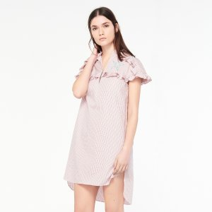 Striped Dress And Star Patch - Dresses - Sandro-paris.com