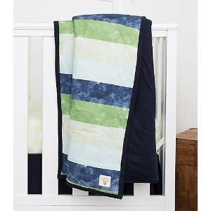 Watercolor Stripe Reversible Quilt