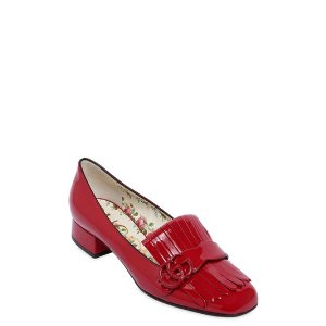 GUCCI - 25MM MARMONT PATENT LEATHER PUMPS - PUMPS - RED - LUISAVIAROMA