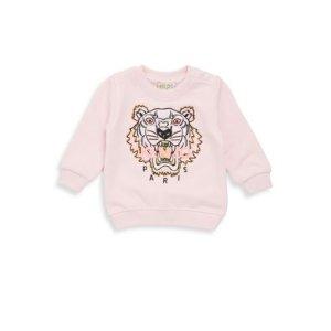 Baby Girl's Embroidered Cotton Sweatshirt