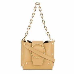 YuzefiSmall Yellow Leather Delila bucket bag
