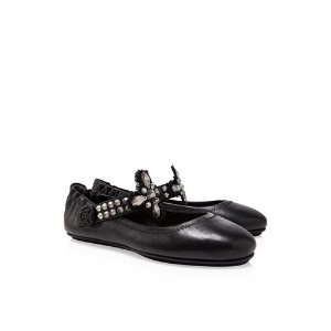 Tory Burch Minnie Embellished Two-Way Ballet Flats