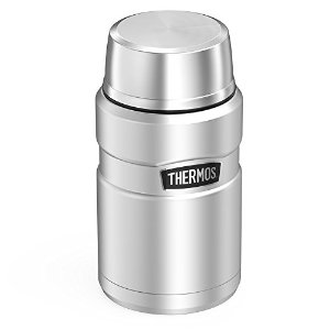 Lowest price $18.74 (Orig$27.99)Thermos Stainless King 24 Ounce Food Jar, Stainless Steel