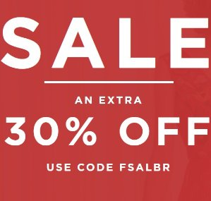 Extra 30% OffSale @ French Connection US